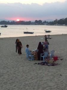 Spiaggia di Hammamet al tramonto
